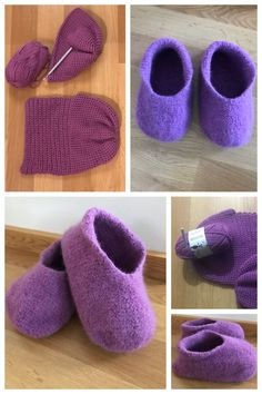 Virkaten huovutetut tossut Slippers, Baby Shoes, Projects To Try, Kids, Tutorials, Fashion, Young Children, Moda, Boys