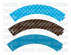 Printable M2M Moustache Owl Brown & Blue Cupcake Wrappers | aMerAZNStyLe - Digital Art  on ArtFire