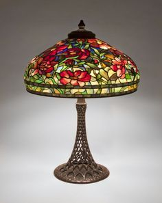 Tiffany Studios Peony Table Lamp, circa 1906