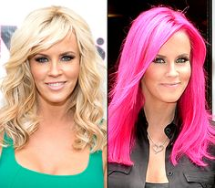 Jenny McCarthy's bright pink hair