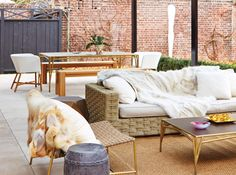 Get inspired to dine alfresco with these beautiful outdoor spaces.