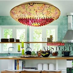 Mosaics Colored Glass Kids Room Ceiling Lamp European Bedroom Ceiling Lamp Creative Kitchen Ceiling Lamp