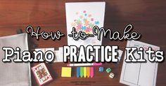 Piano students sometimes just go through the motions in their home piano practice. With these piano practice kits that will all change!
