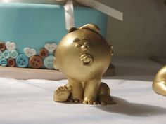 Gold baby's Recuerdos para concursos de baby shower