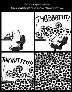 For a non-sports person, this is sorta what it's like to be on the internet right now.