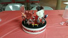 Centerpiece for my sis Baby shower. Chocolate pops made by my mother in law