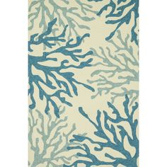 Hand Hooked Indoor/ Outdoor Capri Blue/ Coral Rug (7u00276 X 9u00276) By Alexander  Home