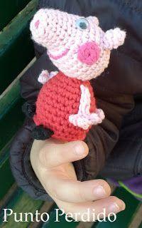 Peppa Pig Títere de Dedo Amigurumi a Crochet - Patrón Gratis en Español