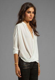 2b0818237da9de EIGHT SIXTY Wrap Blouse in White - Eight Sixty Eight, My Wardrobe, V Neck