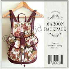 @bagsu_id | MAROON BACKPACK - IDR 350k.