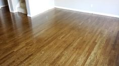 "White oak solid hardwood floors, 2.25"" wood, common #1, Minwax ""Provincial"" stain - freshly installed and looking sharp! #hardwoodflooring #mediumbrown"