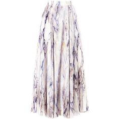 TRAGER DELANEY Marble-print maxi skirt