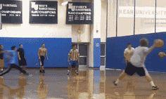 Actually dodging a ball: