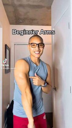 Beginner Arm Workout using a wall