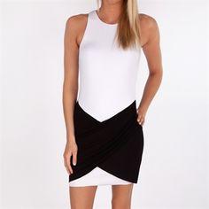 b162bc3ec2 Bailey44 Womens Contemporary Overdrive Dress #VonMaur #Bailey44 #Black  #White #HighNeckline