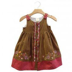 Corduroy Button Down Baby  Dress