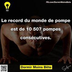 Le record du monde de pompe est de 10.507 pompes consécutives.