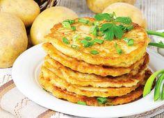 Plăcinte cu Cartofi la Tigaie Pancakes, Recipies, Food And Drink, Snacks, Cooking, Breakfast, Health, Sweet, Puddings