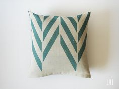 Linen pillow. Designed by Lovely Home Idea. New Zigzag Chevron Herringbone collection. $30.00, via Etsy.