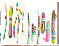 painted sticks as art?