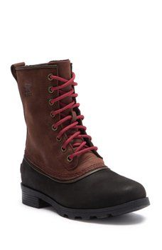 Image of Sorel Emelie 1964 Waterproof Leather Boot Ski Fashion, Mens Fashion, Fall Outfits, Kids Outfits, Cold Weather Gear, Apres Ski, Snow Boots Women, Colorful Fashion, Winter Boots