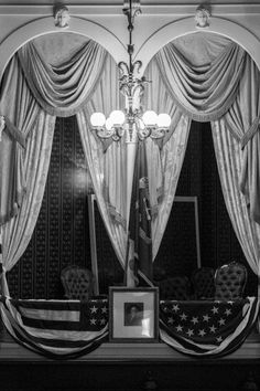 Black and white photograph of the actual box inside Ford's Theater where President Abraham Lincoln was shot by actor John Wilkes Booth on April Vacation Games, Dc Photography, All Inclusive Trips, Washington Dc Travel, Actor John, Capital City, Dream Vacations, Abraham Lincoln, April 14