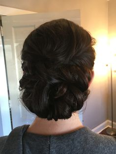 Bridal Twisted updo by Kimberly Valosen