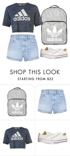 """Untitled #1000"" by maddieandmaddy ❤ liked on Polyvore featuring Topshop, GRLFRND, adidas and Converse"