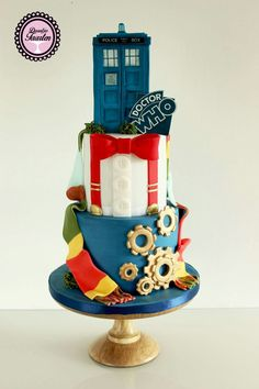Who cake Doctor Who Birthday, Doctor Who Party, Doctor Who Wedding, Fondant Cakes, Cupcake Cakes, Cupcakes, Beautiful Cakes, Amazing Cakes, Dr Who Cake