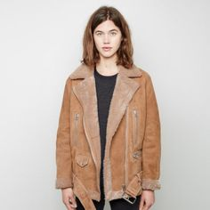 ACNE -More Shearling Moto Jacket -THE SHAPE OF THE SEASON