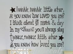 Grandma Quotes Discover Childrens Nursery Wall Decal Sticker Twinkle Twinkle Little Star Cute Quotes, Great Quotes, Inspirational Quotes, Motivational, Leadership, Nursery Wall Decals, Star Nursery, Bedroom Wall, Kids Bedroom