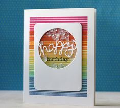 Happy Birthday Card by Laura Bassen for Papertrey Ink (June 2014)