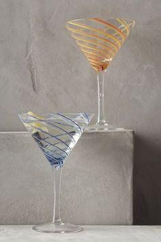 Spiral Martini Glass - anthropologie.com #anthrofave