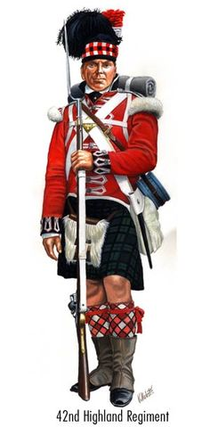 Black Watch  (42nd Regiment) 1808-15 'Centre' company man. Correct hackle?