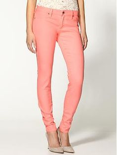 Blank Denim Skinny Jeans | Piperlime - Corals are essential for spring
