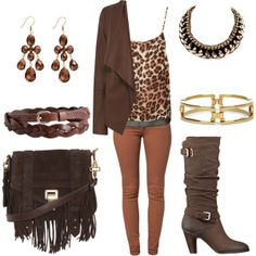 """""""brown inspired"""" by milky-silvers on Polyvore"""