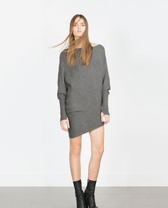 zara asymmetrical sweater dress 2015 grey - Google Search
