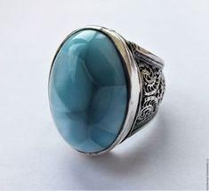 """Кольца ручной работы. Ярмарка Мастеров - ручная работа. Купить Кольцо """"Sky""""- ларимар, серебро 925. Handmade. Голубой, подарки"""