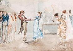"""Regency dancing, a """"Country dance."""""""