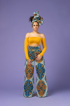 Feel awesome wearing Grass-fields African print pants, made from brilliant African fabric sourced from Cameroon. Shop the collection now. African Fashion Ankara, African Inspired Fashion, African Print Fashion, African Attire, African Wear, African Dress, African Outfits, African Style, African Beauty