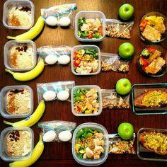 Oatmeal & banana  Chicken or tuna salad