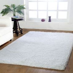 Affinity Linens Affinity Hand-woven White Area Rug Size: 60'' Wx96'' L