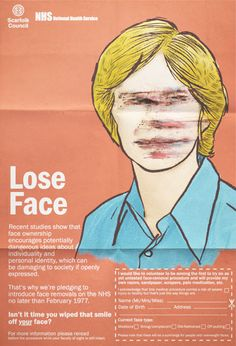 While some children were born without faces simply because they didn't deserve them (see the Scarfolk Annual ), the government bec. Dark Pictures, Funny Pictures, Personal Identity, Hopes And Dreams, The Faceless, All We Know, Information Poster, Time Warp, Twisted Humor