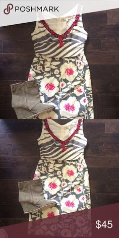 Adorable Nanette Lepore dress Great condition. Never worn. Zipper in back. Retails 85.  Outfit Inspiration: work, interviews, dates.  Help my fiancé and I save up for our wedding! All purchases are shipped carefully and thoughtfully  Smoke- free home ❗️Bundle to save on SHIPPING & TOTAL  Serious and reasonable offers only (no more  than 10% of listing price!)  ✅Suggested User, shop with confidence NO TRADES ️Sharing is caring Nanette Lepore Dresses Mini