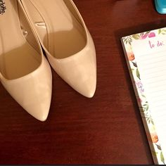 Beige flats Worn only once! No flaws, just too big on me. Charlotte Russe Shoes Flats & Loafers