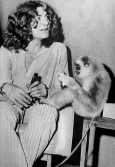 Robert Plant and a monkey!