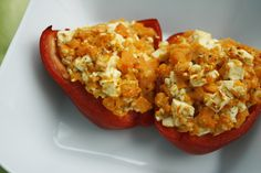 Paprika filled with sweet potato and feta - Easy Food Recipes Veggie Recipes, Vegetarian Recipes, Healthy Recipes, Eat Smart, Greens Recipe, Lunch Snacks, Fabulous Foods, Light Recipes, Soul Food