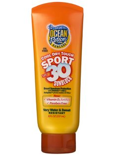 Ocean Potion Suncare Cool Dry Touch Sport SPF 30 Sunblock Review: Skin Care: allure.com