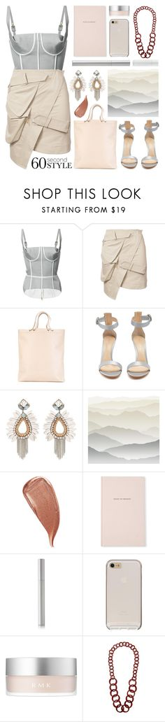 """""""asymmetry"""" by foundlostme ❤ liked on Polyvore featuring Thom Browne, Alexandre Vauthier, Isaac Reina, Gianvito Rossi, York Wallcoverings, Kevyn Aucoin, Kate Spade, rms beauty, RMK and Miss Selfridge"""