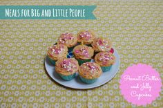 Most delicious peanut butter and jelly cupcakes. The only way to say 'Happy Birthday' Little People, Fun Projects, Jelly, Peanut Butter, Happy Birthday, Cupcakes, Eat, Breakfast, Food